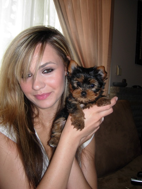 Alexandra and her puppy, Toronto, Ontario